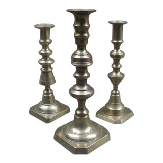 Brass Candle Holders - Set of 3