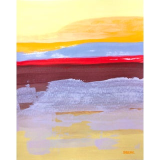 "Contemporary Landscape ""Desert Color Study Iv"" Painting by Angela Seear, Small For Sale"