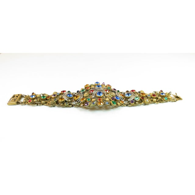 Gold Victorian Austro-Hungarian Bejeweled Crystal Parure 1870s For Sale - Image 8 of 13