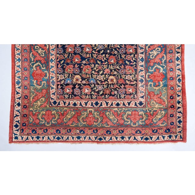 Mid 19th Century Allover Design Oversized Bijar Carpet For Sale - Image 5 of 6