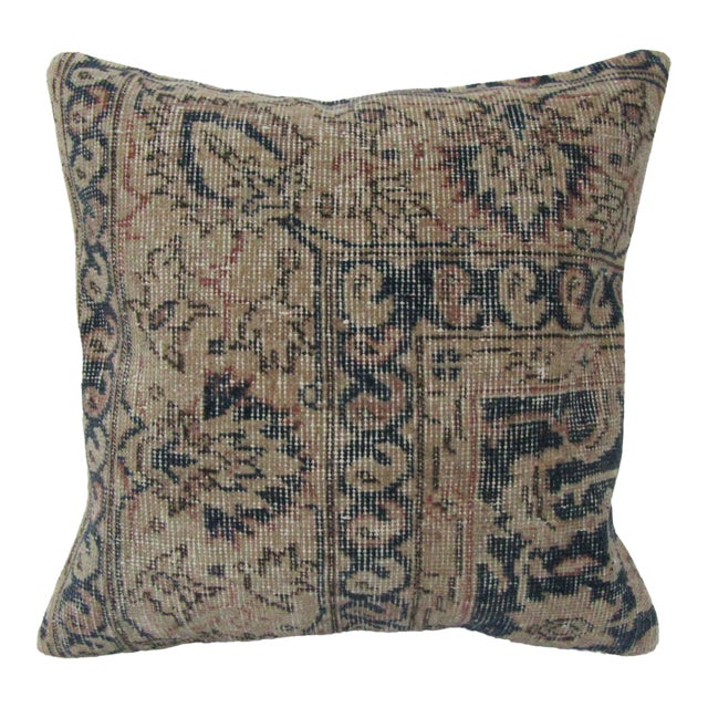 Vintage Turkish Navy Pillow Cover For Sale