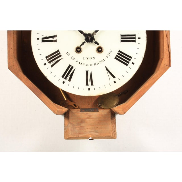 Late 19th Century 19th-C. French Napoleon III Wall Clock For Sale - Image 5 of 6