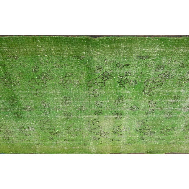 """Traditional Vintage Overdyed Rug, 3'10"""" X 6'9"""" For Sale - Image 3 of 5"""