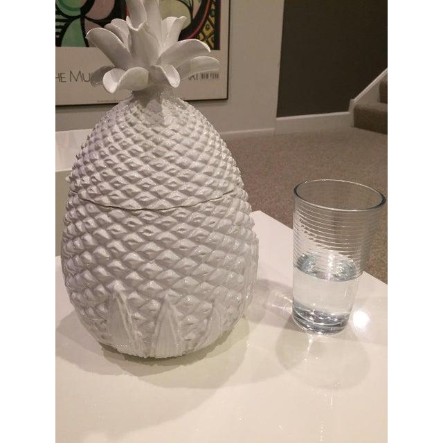 Vellum Italian Ceramic Pineapple Covered Box 2 Pieces For Sale - Image 9 of 11