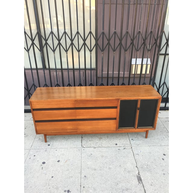 Mid Century Lowboy Dresser With Hidden Vanity by H.Paul Browning for Stanley Furniture Co. For Sale - Image 11 of 13