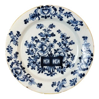 Antique Delft Chinoiserie Plate For Sale