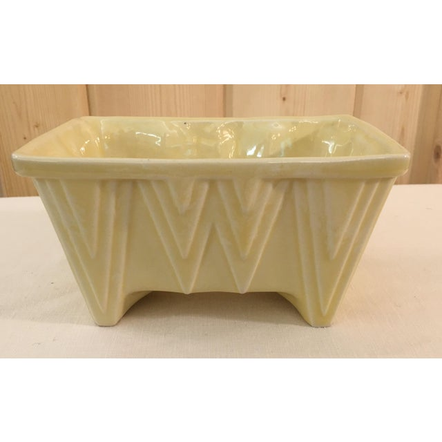 CP Cookson Art Deco Style Yellow Planter - Image 2 of 8
