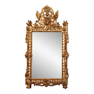 Giltwood Mirror with Cartouche
