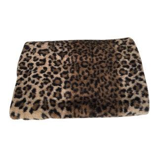 Luxurious Faux Fur Leopard Table Runner For Sale