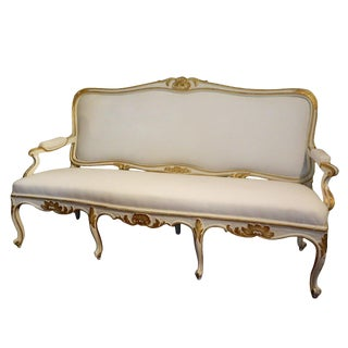 Gustavian Painted and Parcel Gilt Canape or Sofa, 19th Century For Sale