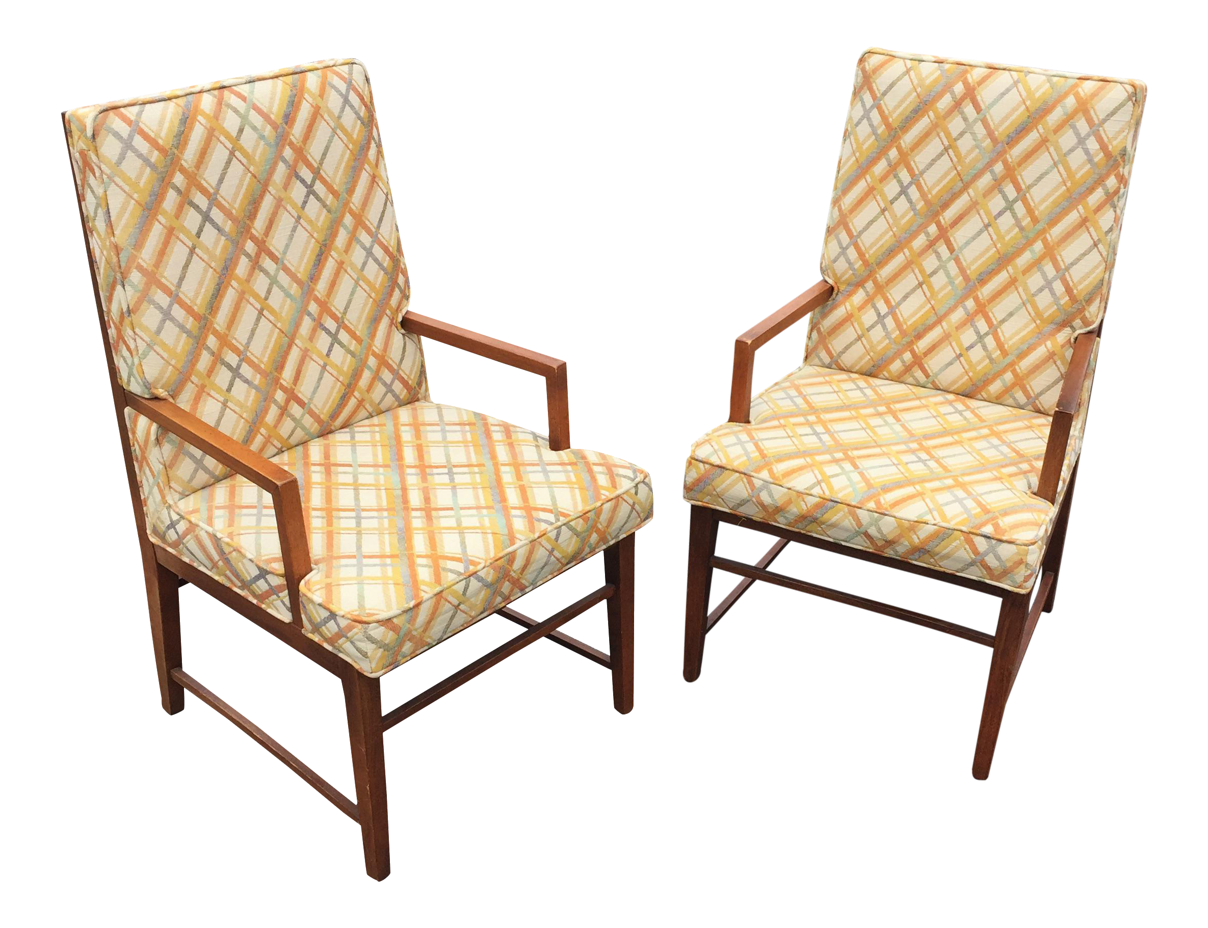 Thomasville MCM Founders Arm Chairs - a Pair - Image 1 of 11  sc 1 st  Chairish & Thomasville MCM Founders Arm Chairs - a Pair | Chairish