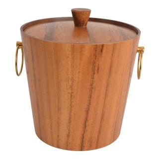 Mid Century Teak Ice Bucket For Sale