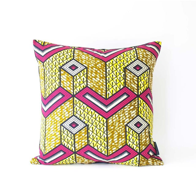 Lubumbashi Wax Print Square Pillow - Image 2 of 4