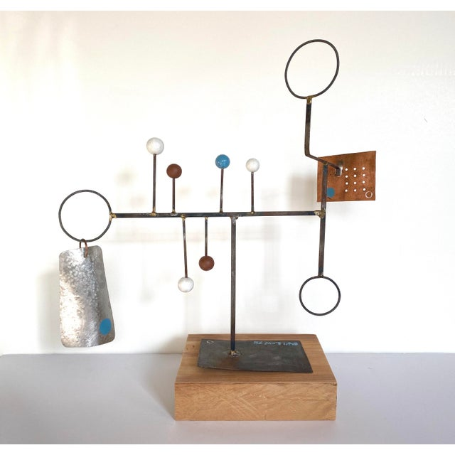 Abstract sculpture dating to mid-20th century by self-taught artist Bill Low (1898-1981). Low was a World War I veteran...