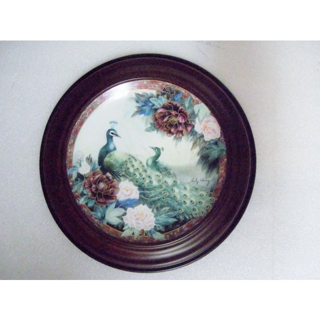 Van Hygan & Smythe Wood Frame With Lily Chang Plate For Sale - Image 11 of 11