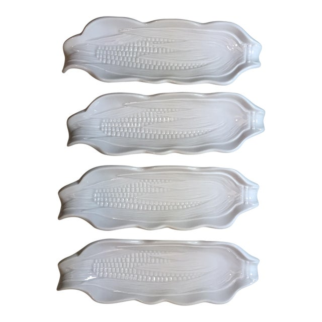 French Pillivuyt Porcelain Corn Dishes - Set of 4 - Image 1 of 7