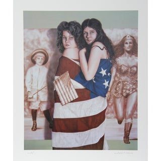 Robert Anderson, Multicolored Ladies, Lithograph For Sale