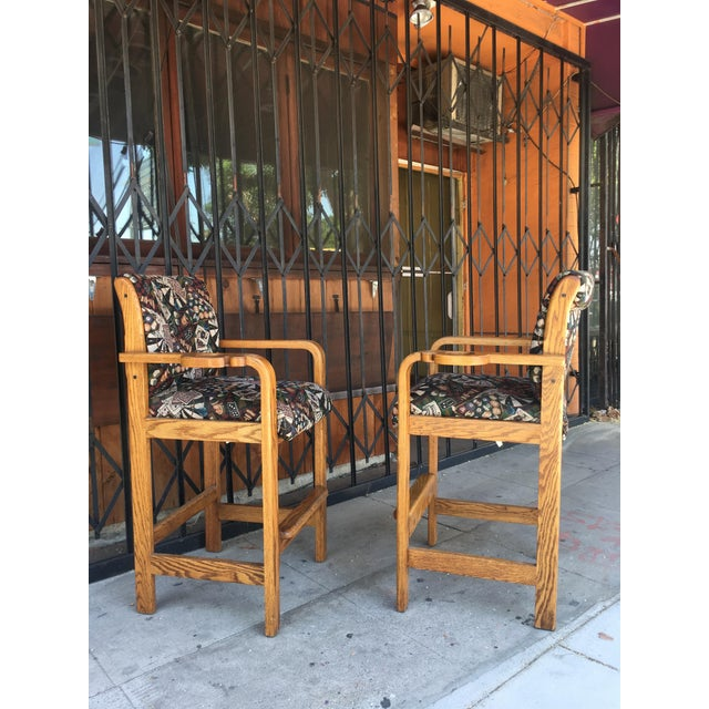 Vintage Mid Century Barstools- A Pair For Sale - Image 4 of 13