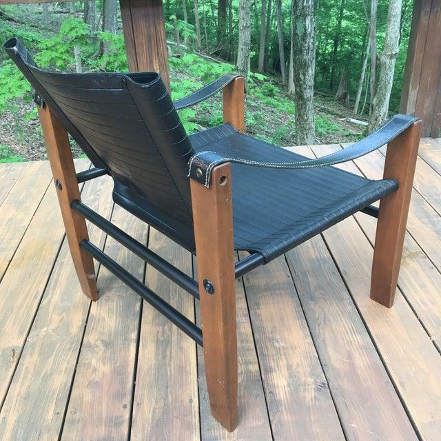 Sirocco Safari Black Vinyl & Leather Arms Chair - Image 6 of 10