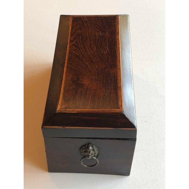 Mahogany Box With Lion Head Handles For Sale In Dallas - Image 6 of 11
