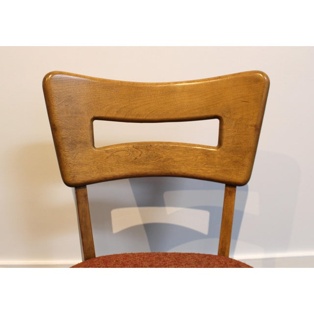 "Mid-Century Modern Heywood Wakefield ""Dog-Bone"" Dining Chairs - Set of 6 - Image 7 of 11"