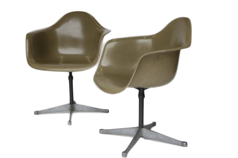 Charmant Charles Eames Bucket Swivel Chair   Pair   Image 2 Of 8