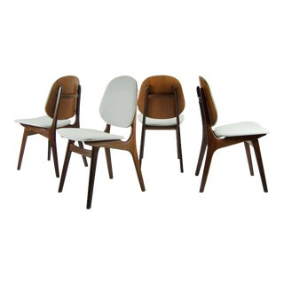 1960s Danish Modern Arne Hovmand-Olsen Teak Dining Chairs - Set of 4