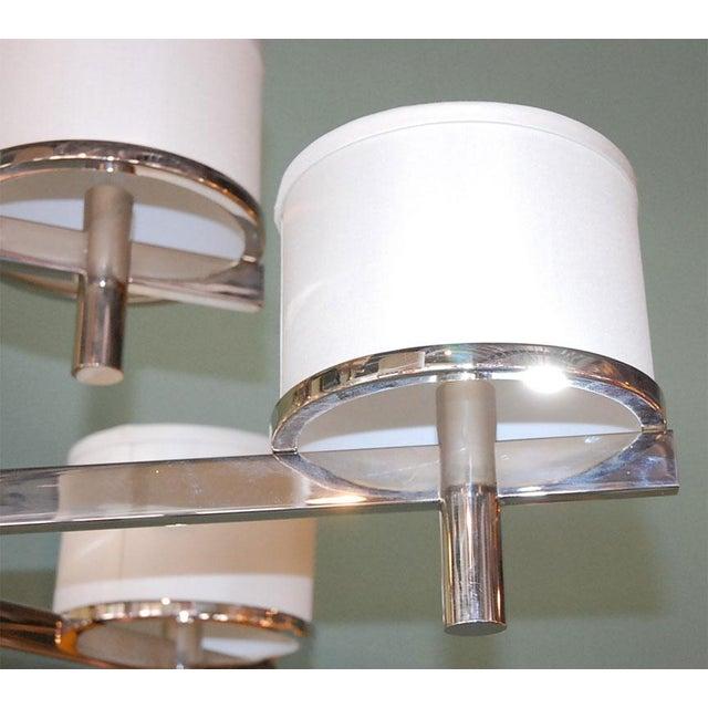 2010s Paul Marra Design Nine Arm Silk Drum Chandelier For Sale - Image 5 of 6