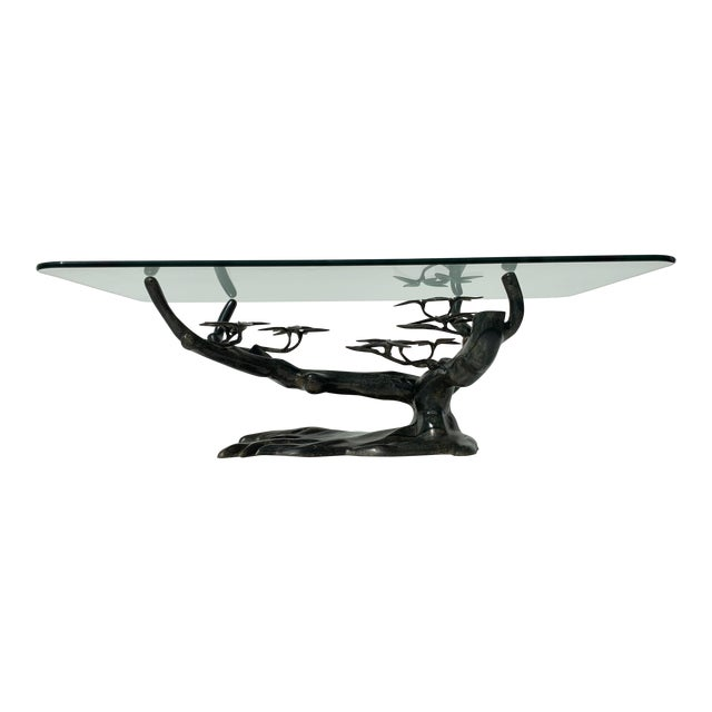 Willy Daro Bonsai Tree Brass Table For Sale