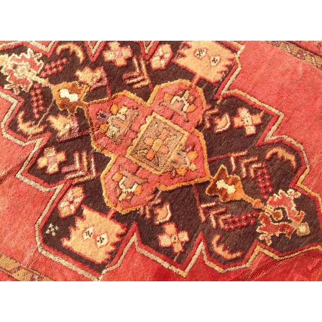 """1940s Vintage Hand Knotted Anatolian Rug - 4'2"""" x 13'5"""" - Image 6 of 8"""