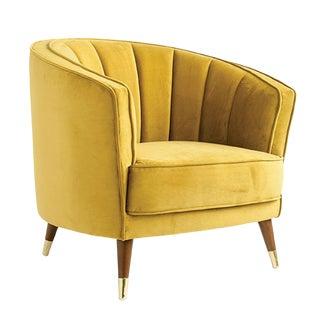 1970s Vintage Velvet Classic Armchair