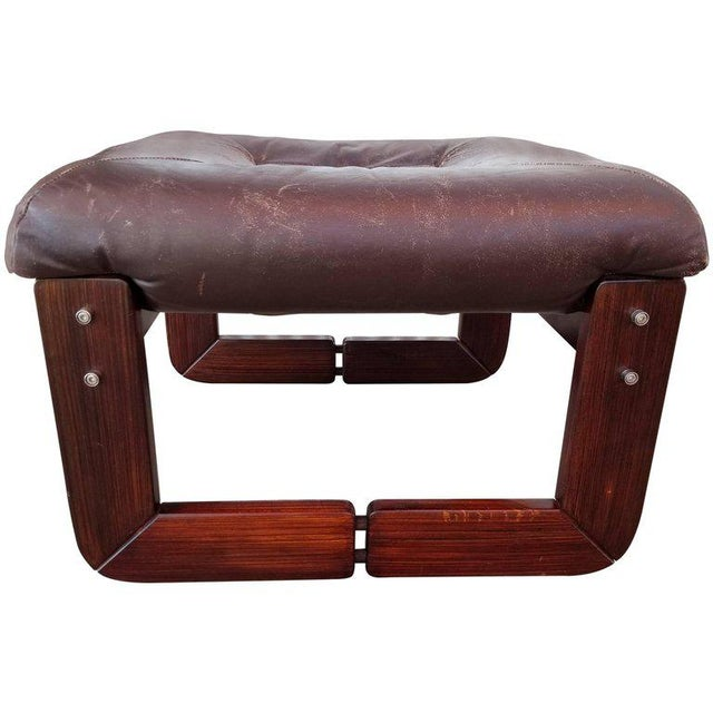 Leather Footstool by Percival Lafer For Sale - Image 5 of 5