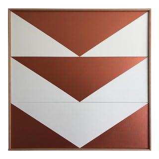"Original Acrylic Painting ""Copper Arrow Down Triptych JET0508"""