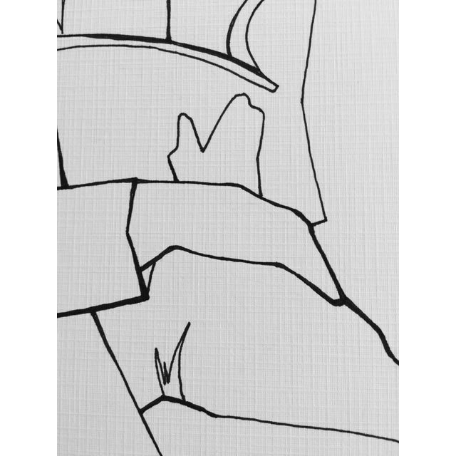 """Book on a Train"" Minimalist Line Drawing For Sale - Image 5 of 5"