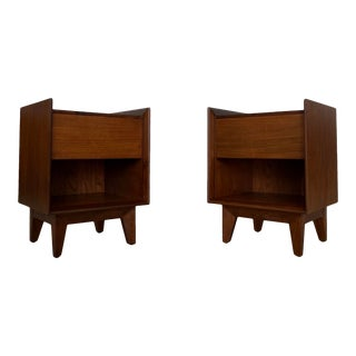 Mid-Century Modern Nightstands - a Pair For Sale