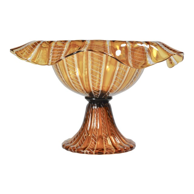 Vintage Salviati Attributed Murano Glass Compote - Image 1 of 5