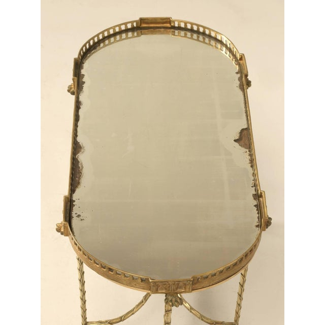 French French Bronze Bamboo Style Coffee Table Attributed to Bagues For Sale - Image 3 of 9