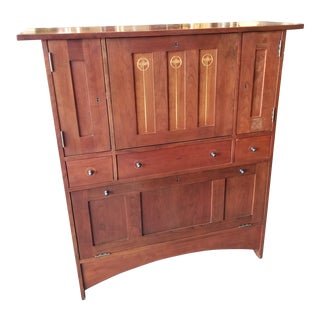 Stickley Harvey Ellis Mission Cherry Fall Front Bar For Sale