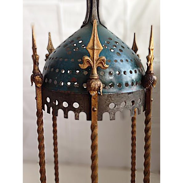 Lanterns - Vintage Rambusch Gothic Ceiling Fixtures - Set of 3 For Sale - Image 4 of 5