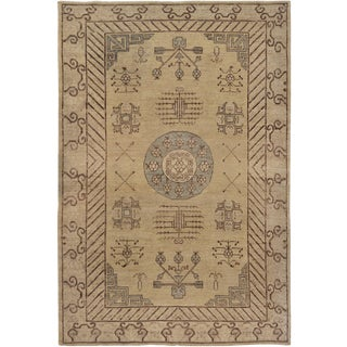 Mansour Fine Handmade Khotan Rug For Sale