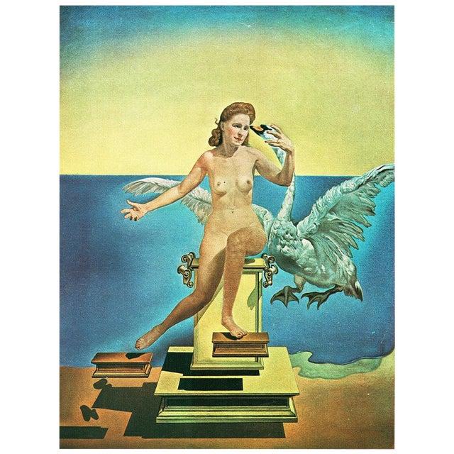 "1957 Salvador Dalí ""Leda Atomica"" Period Vintage Lithograph Print For Sale"