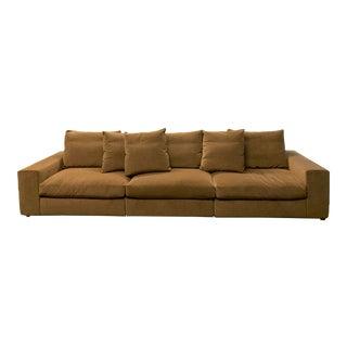 Antonio Citterio Three Piece Flexform Sofa + Mohair For Sale