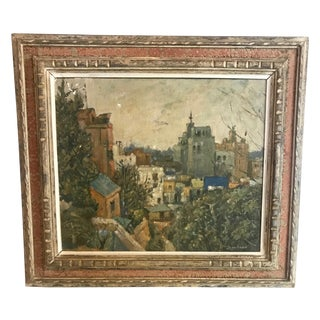 20th Century Cityscape Painting Signed Shinohara For Sale