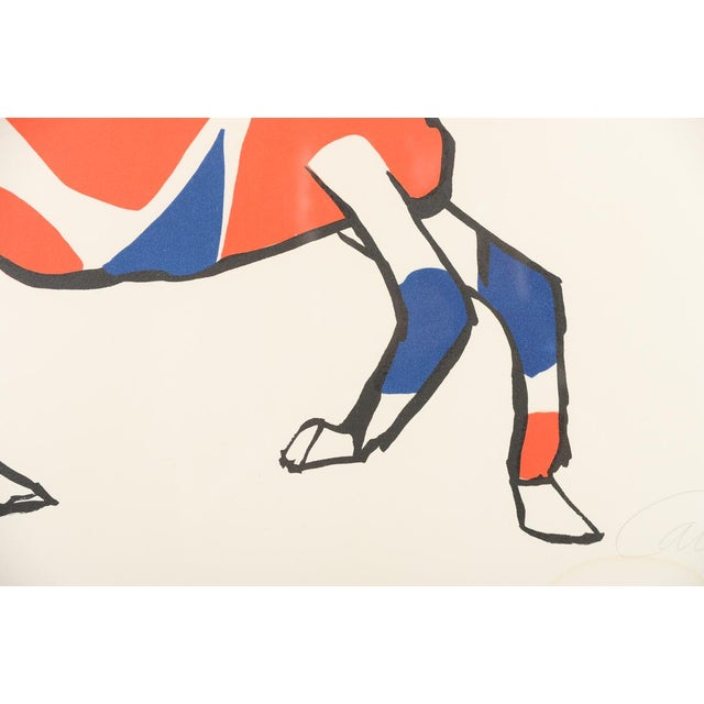 """Circus Bareback Rider"" Framed Alexander Calder Lithograph For Sale - Image 5 of 10"