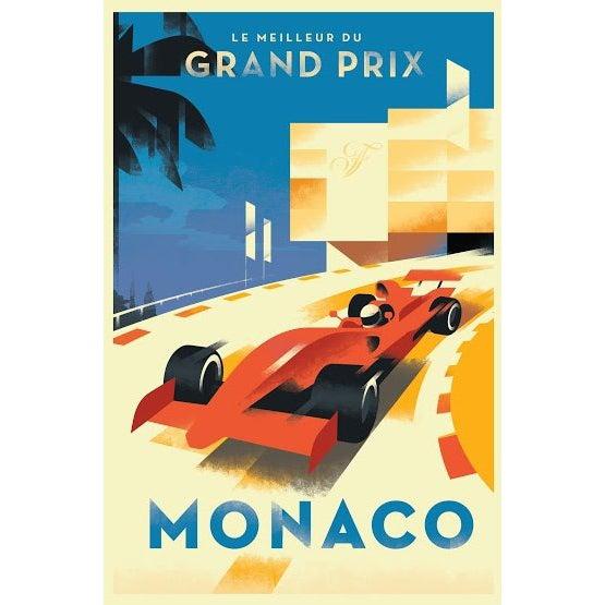 2015 Contemporary Danish Poster, Monaco Grand Prix For Sale