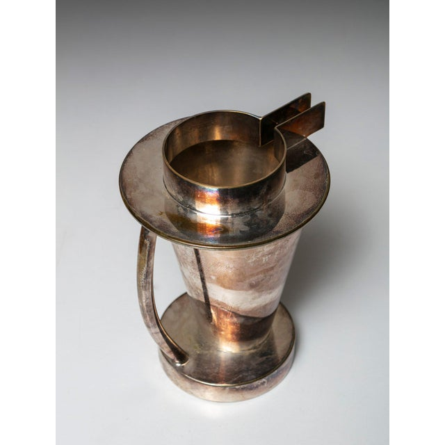 1980s Silverplated Postomodern Pitcher For Sale - Image 5 of 5