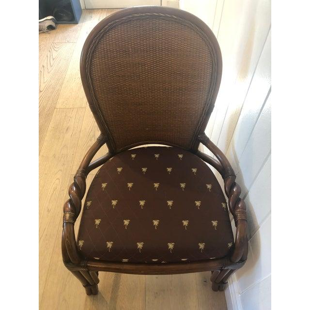 1980s Vintage Palecek Twisted Side Chair- Set of 4 For Sale - Image 9 of 13