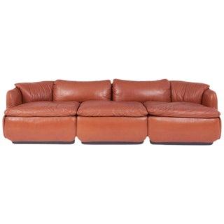 """Saporiti """"Confidential"""" Leather Sofa by Alberto Rosselli For Sale"""