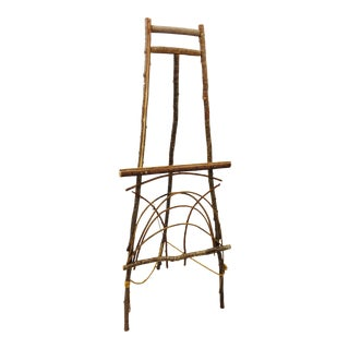 Folk Birchwood Easel For Sale