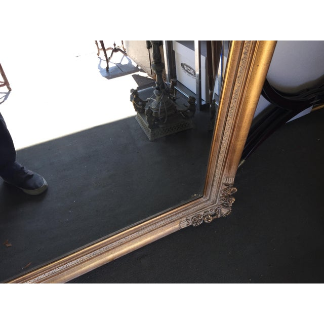 Metal Large Gold Mirror For Sale - Image 7 of 13